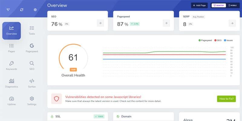 Screpy er et nemt SEO værktøj der samler mange forskellige metrics ét sted